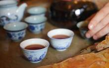 Moychay tea tasting aged ripe puer from the collection of tea culture club puer shu 80 16